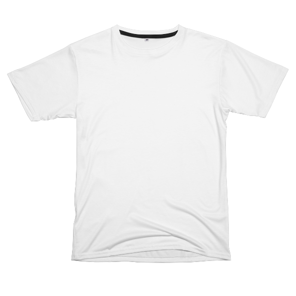 Custom all-over print t-shirts with easy design placement