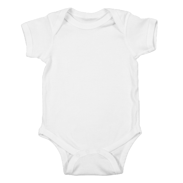 Custom printed baby bodysuit