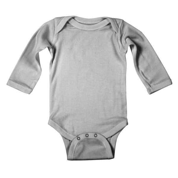Custom printed longsleeve baby bodysuit