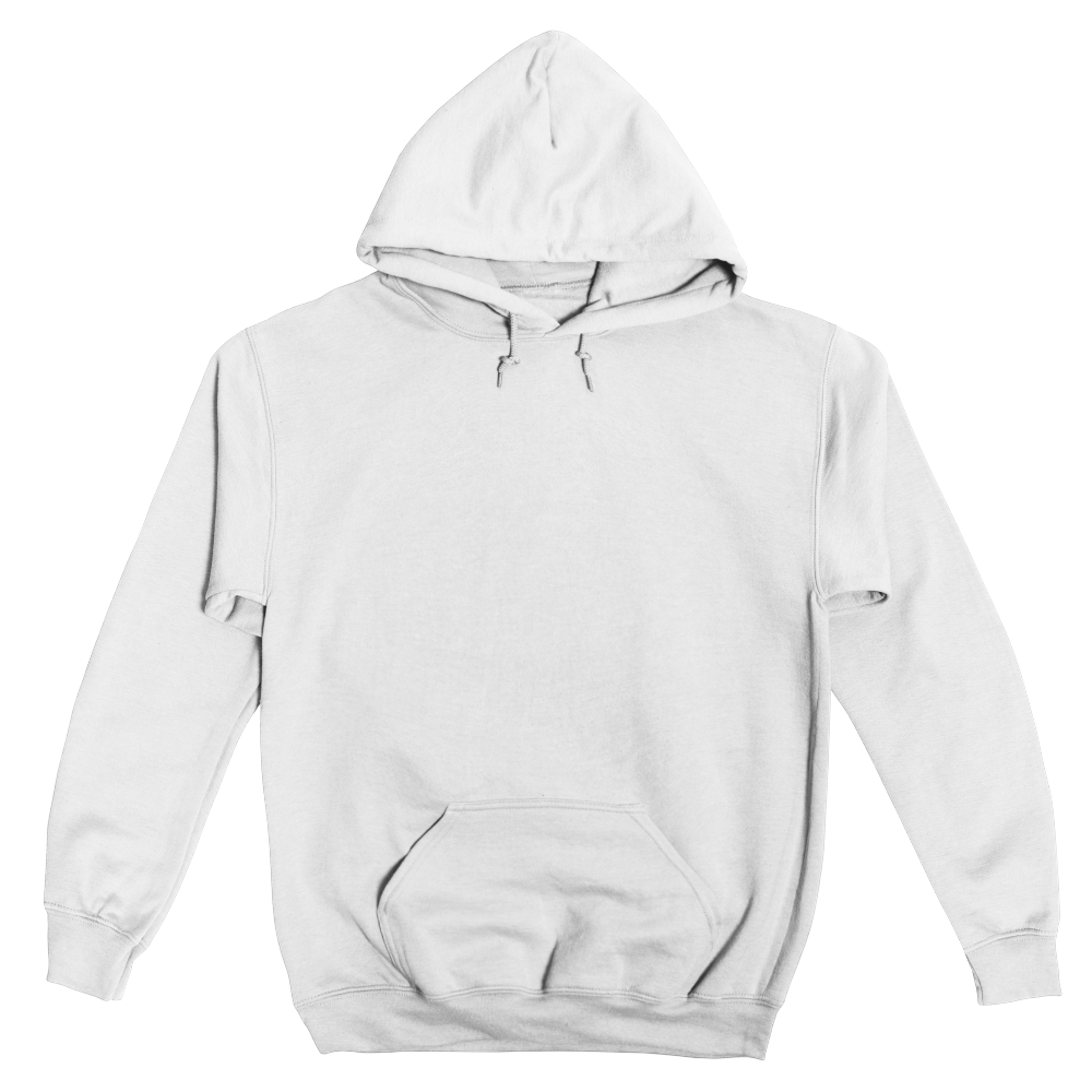 Essential pullover hoody in sizes up to 5XL balances comfort and durability with soft fleece and a double-lined hood.
