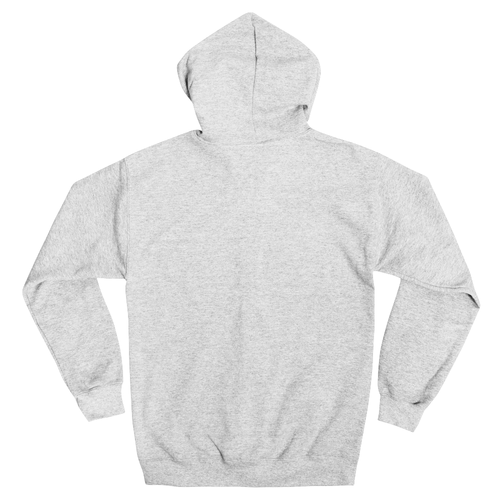 Everyday zip-up hoody in sizes up to 5XL features a warm fleece knit and a metal zipper fully covered by fabric.