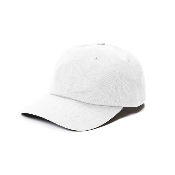 Relaxed-fit adjustable cotton cap with a curved bill