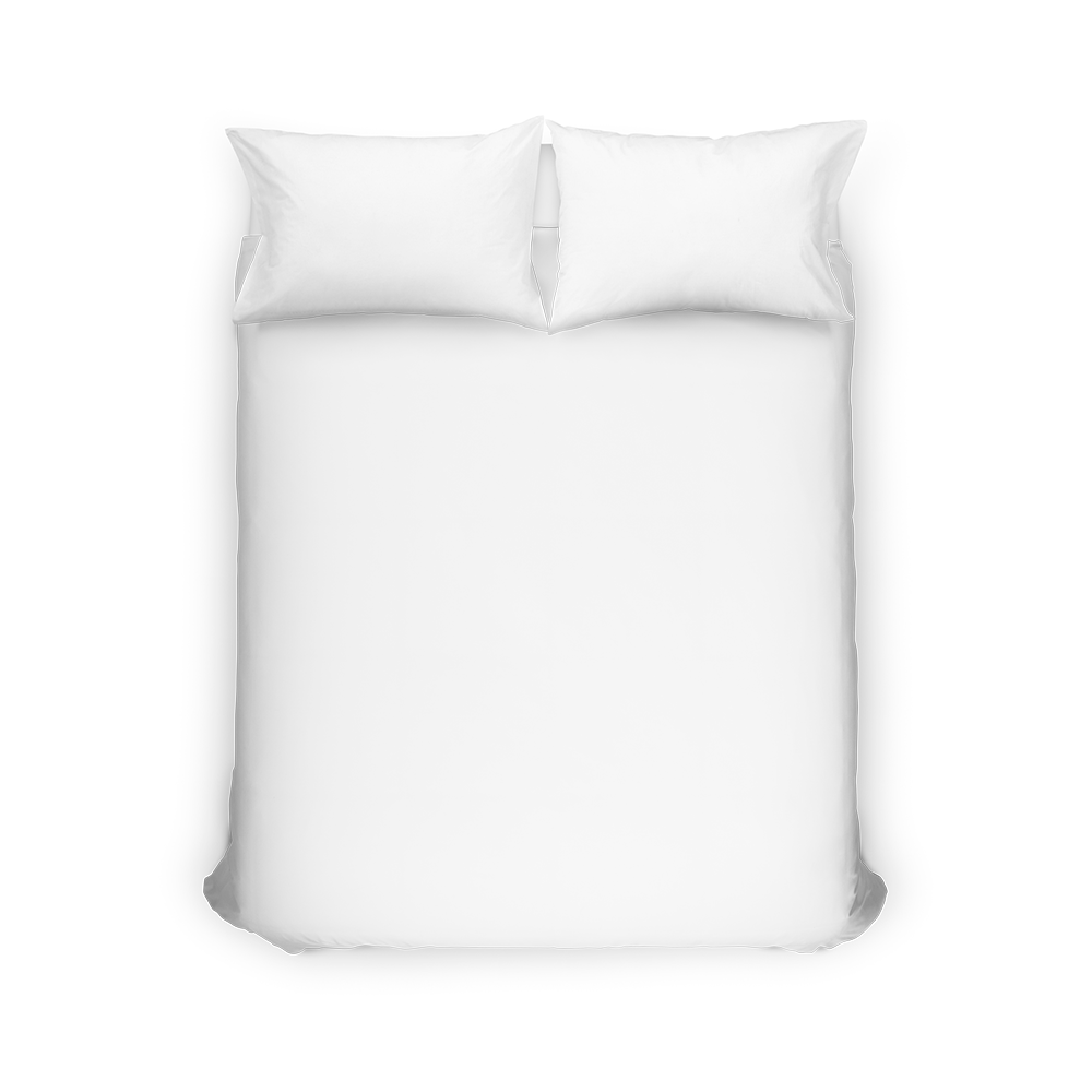 A personalized duvet cover makes for a giant canvas for your designs.