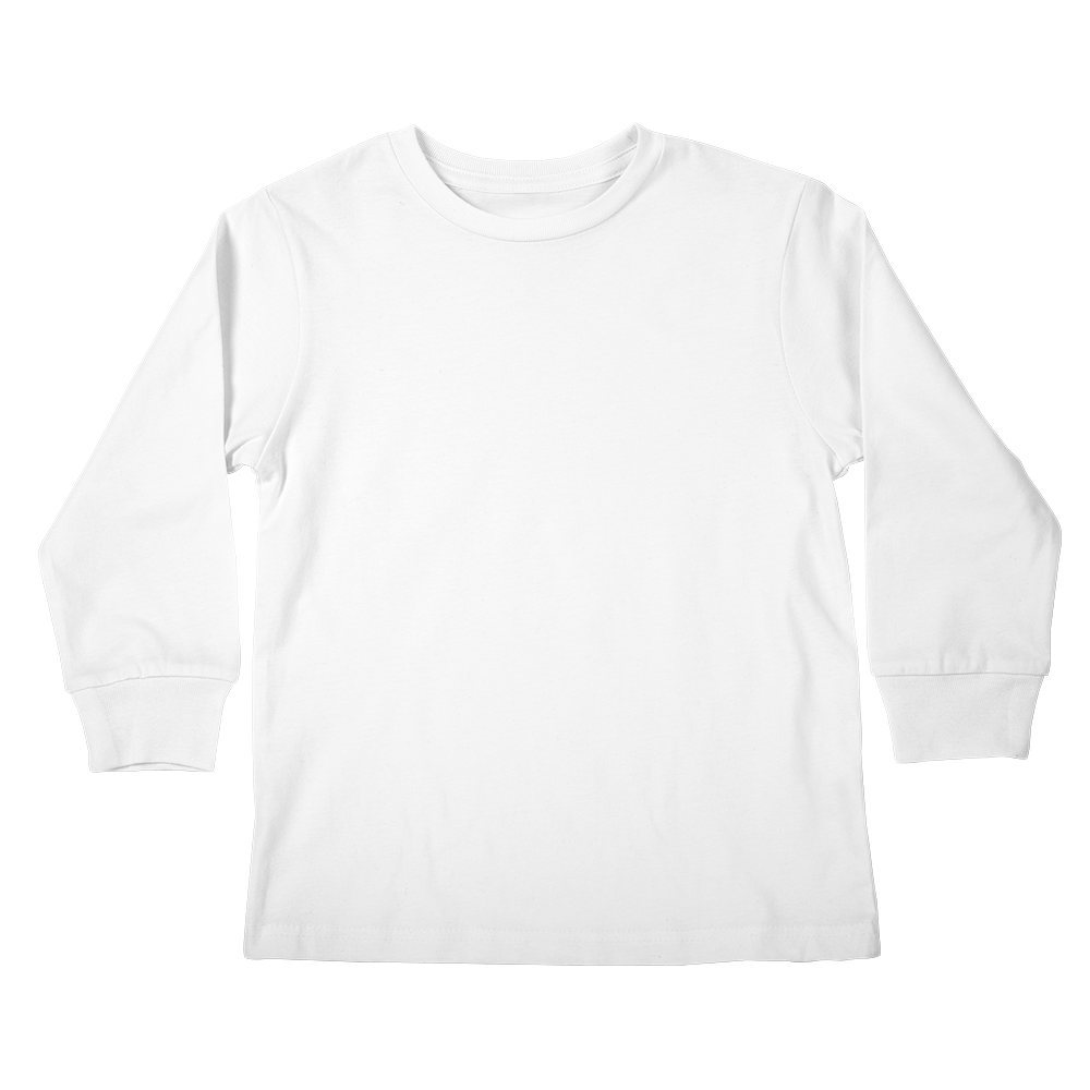 A custom kids longsleeve graphic tee that keeps the little ones warm while lookin' cool.