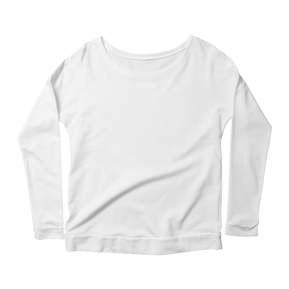 Fashionable custom printed longsleeve scoopneck shirt.