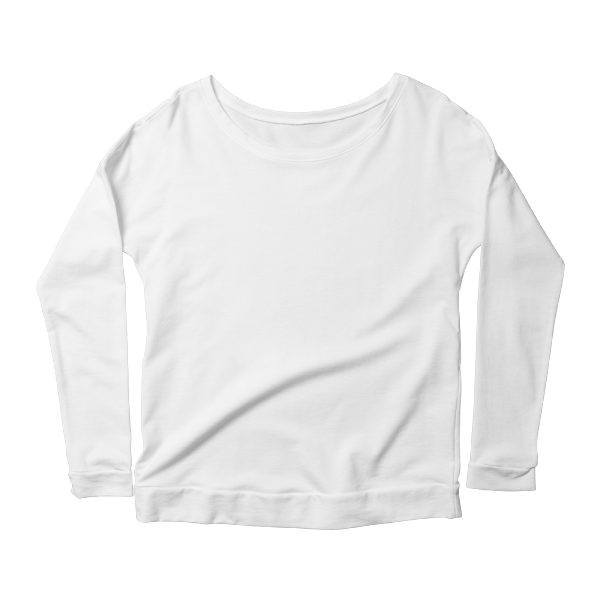 Custom printed longsleeve scoopneck with no minimums