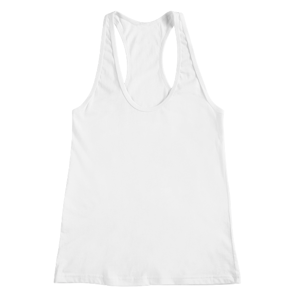 Custom printed racerback tank top with no minimums
