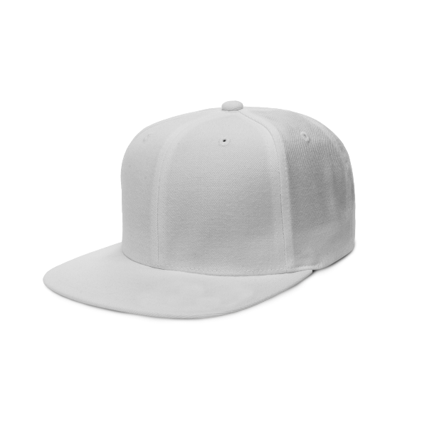 Quintessential six-panel cap with a hard brim that's adjustable
