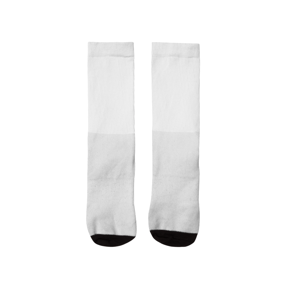 Comfortable cushioned bottom socks perfect for all-over print designs
