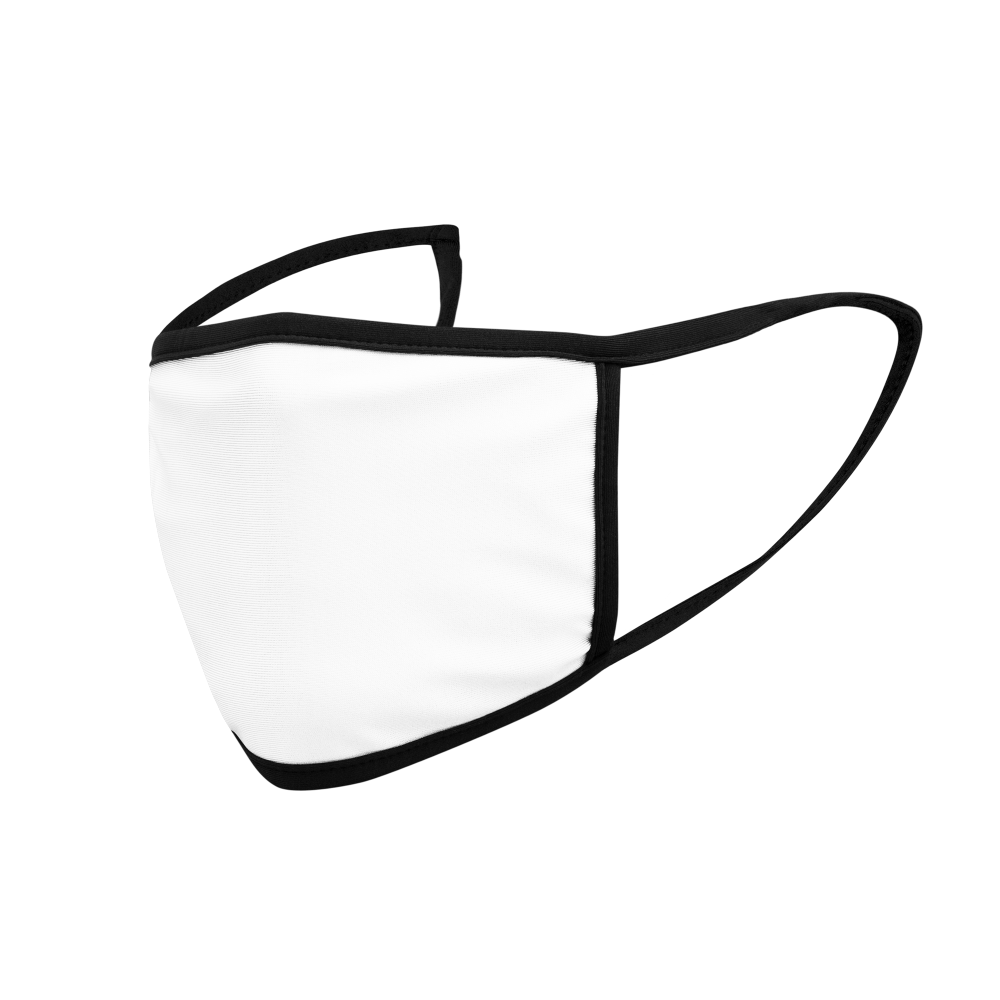 Smaller soft, polyester face masks featuring elastic ear loops for kids.