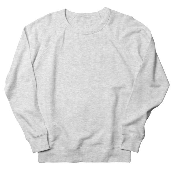 Custom printed crew neck french terry sweatshirts