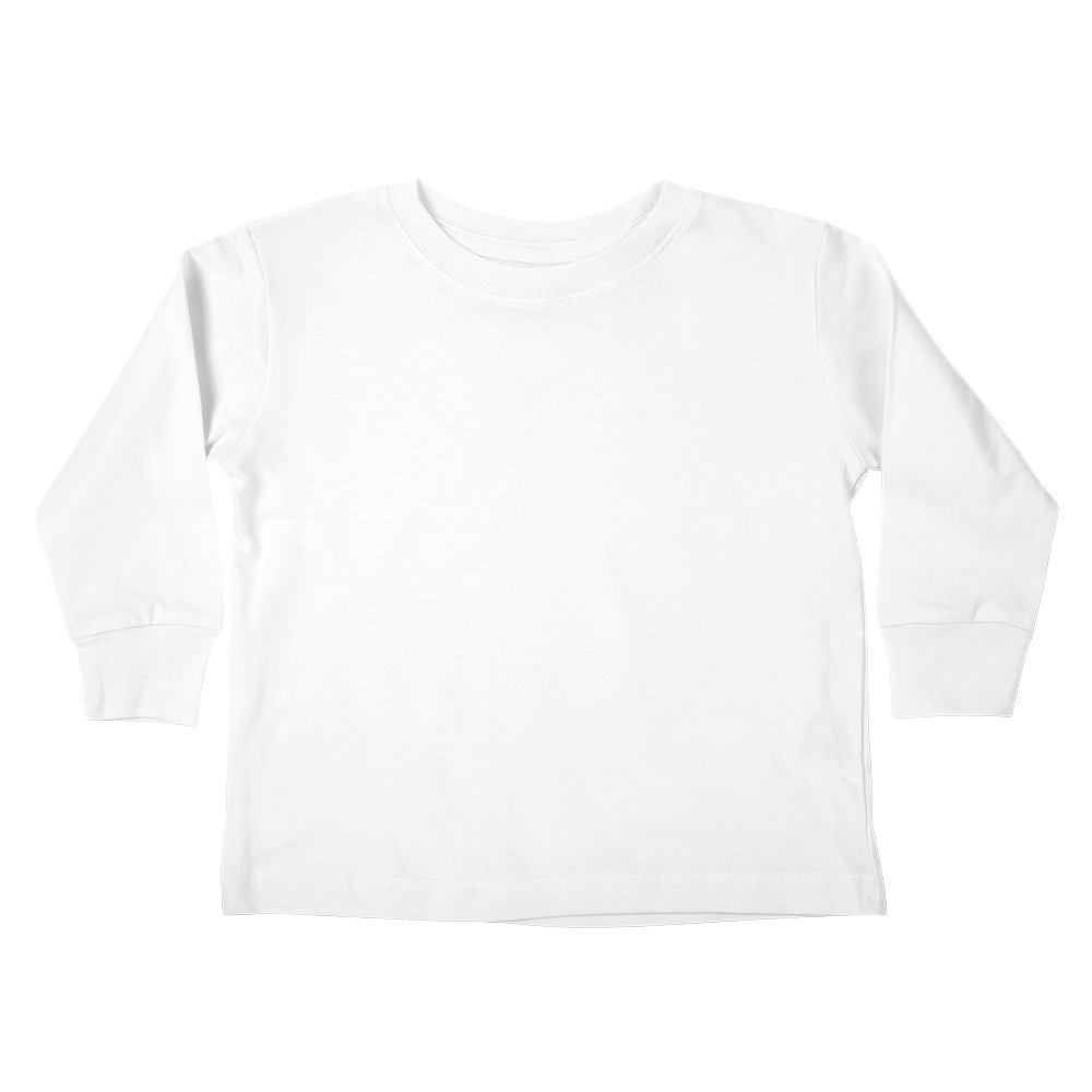A custom toddler longsleeve graphic tee that keeps the little ones warm while lookin' cool.