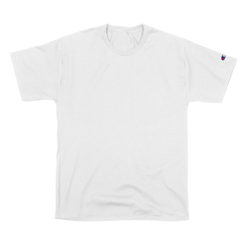 Ringspun cotton jersey tee with iconic Champion® logo sleeve patch.