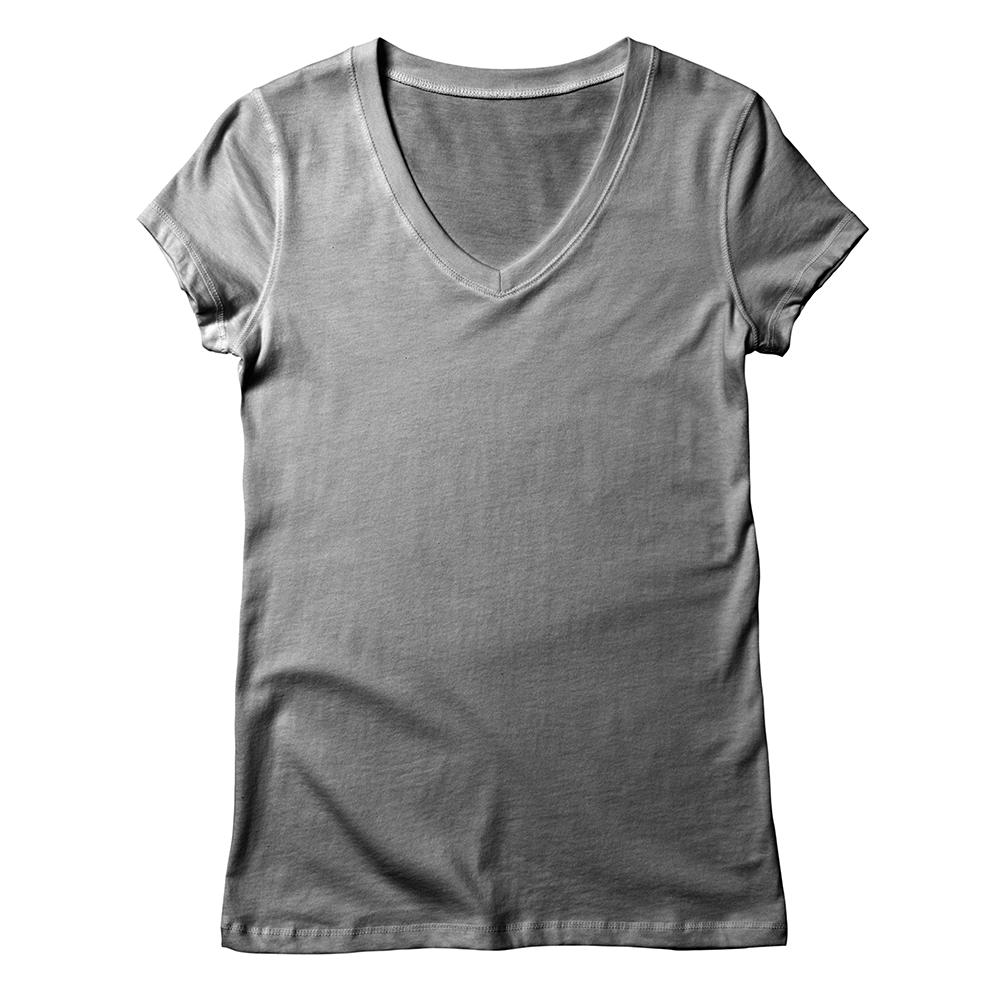 A high-quality t-shirt with a popular v-shaped neckline