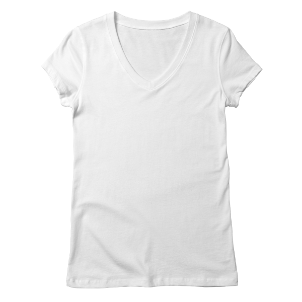 Custom printed v-neck t-shirts