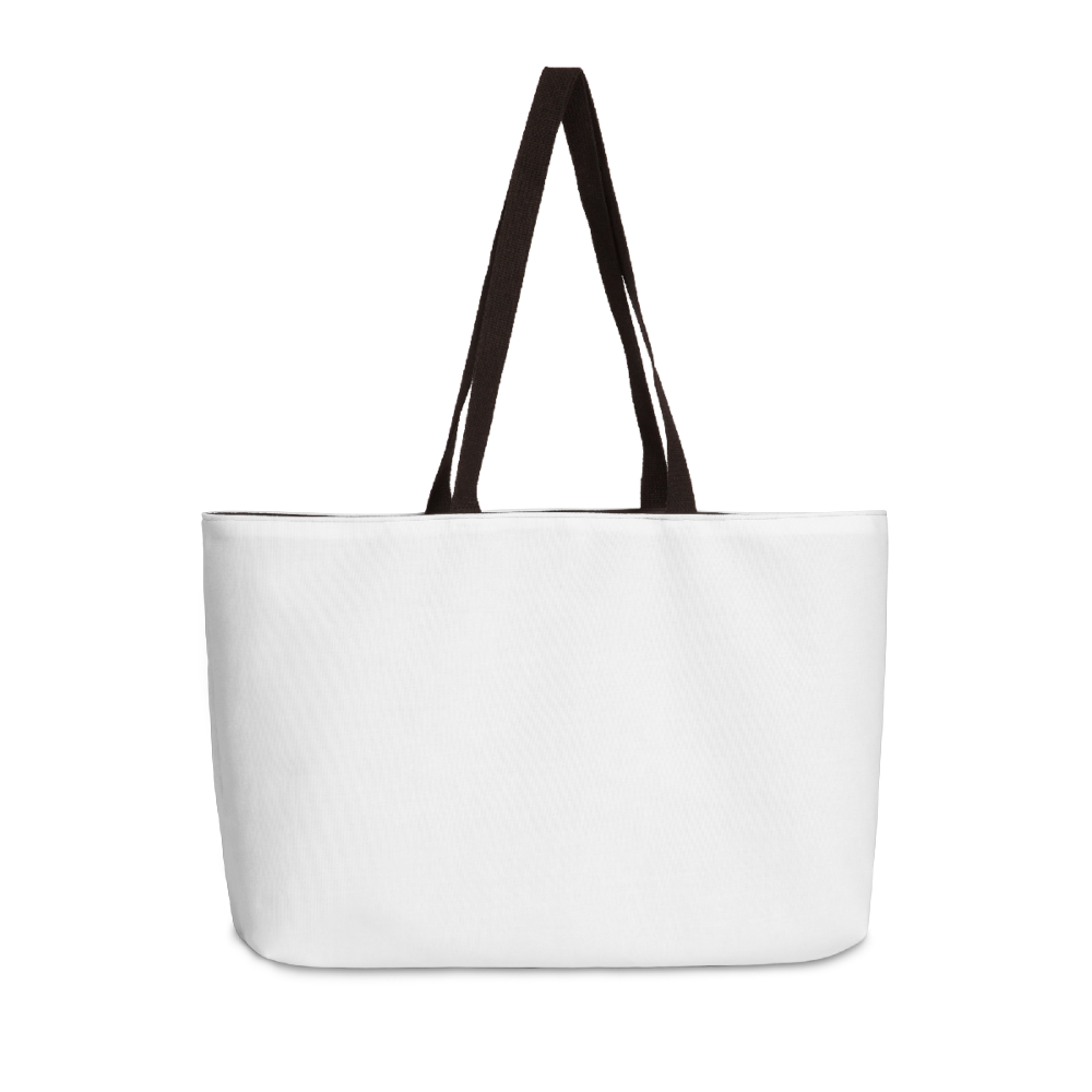 The perfect custom weekender tote bag for a mini vaca getaway.
