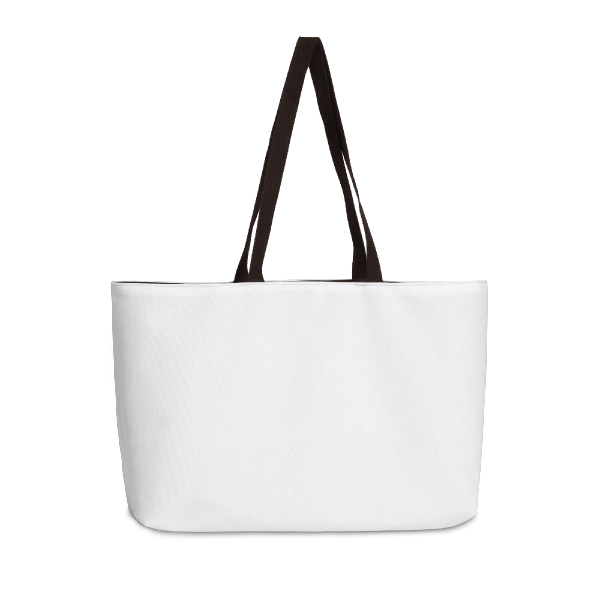 Vacation-ready custom printed weekender tote bag