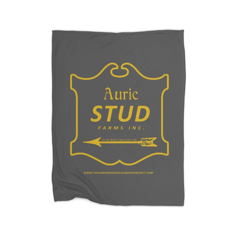 "Auric Stud - ""No, Mr. Bond, I expect you to RIDE."" Home Fleece Blanket Blanket by 007hertzrumble's Artist Shop"