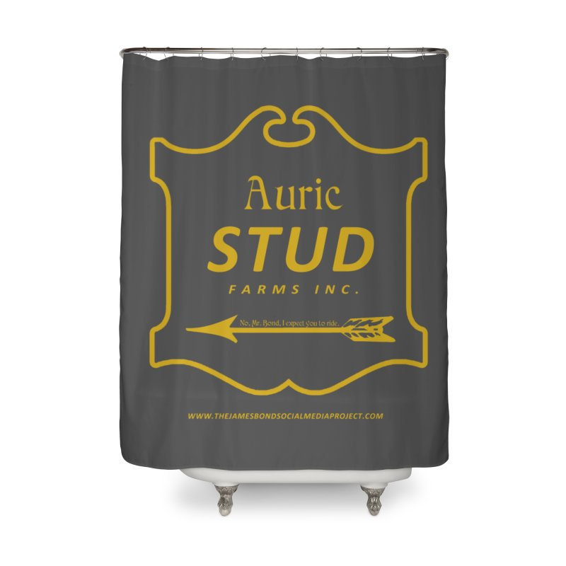 "Auric Stud - ""No, Mr. Bond, I expect you to RIDE."" Home Shower Curtain by 007hertzrumble's Artist Shop"