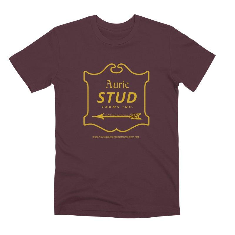 "Auric Stud - ""No, Mr. Bond, I expect you to RIDE."" Men's Premium T-Shirt by 007hertzrumble's Artist Shop"