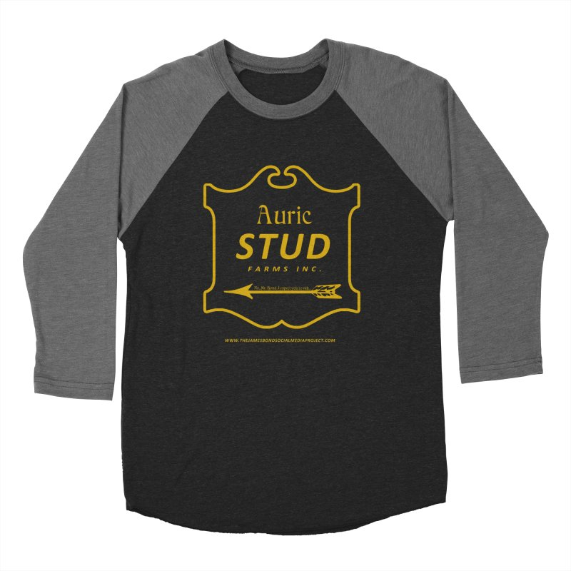"Auric Stud - ""No, Mr. Bond, I expect you to RIDE."" Women's Baseball Triblend Longsleeve T-Shirt by 007hertzrumble's Artist Shop"
