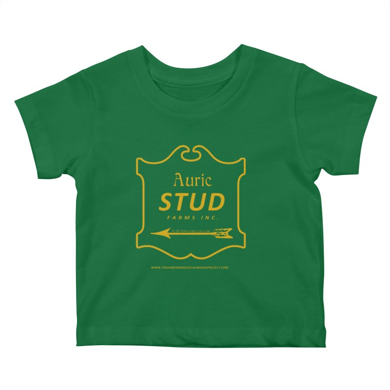"""Auric Stud - """"No, Mr. Bond, I expect you to RIDE."""" Kids Baby T-Shirt by 007hertzrumble's Artist Shop"""