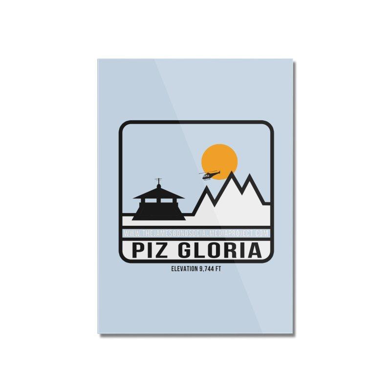 Piz Gloria: Elevation 9,744 FT Home Mounted Acrylic Print by 007hertzrumble's Artist Shop