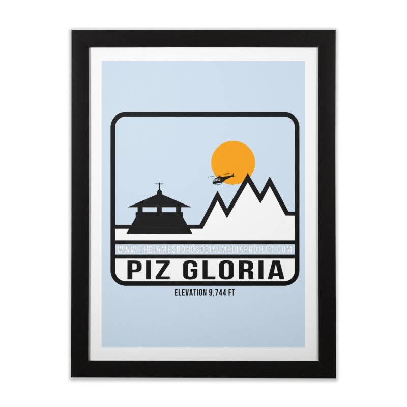 Piz Gloria: Elevation 9,744 FT Home Framed Fine Art Print by 007hertzrumble's Artist Shop