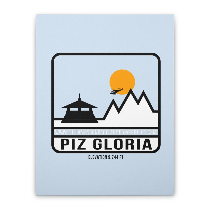Piz Gloria: Elevation 9,744 FT Home Stretched Canvas by 007hertzrumble's Artist Shop