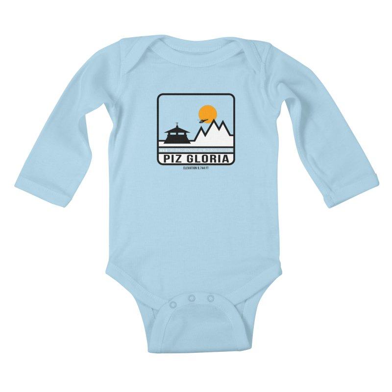 Piz Gloria: Elevation 9,744 FT Kids Baby Longsleeve Bodysuit by 007hertzrumble's Artist Shop