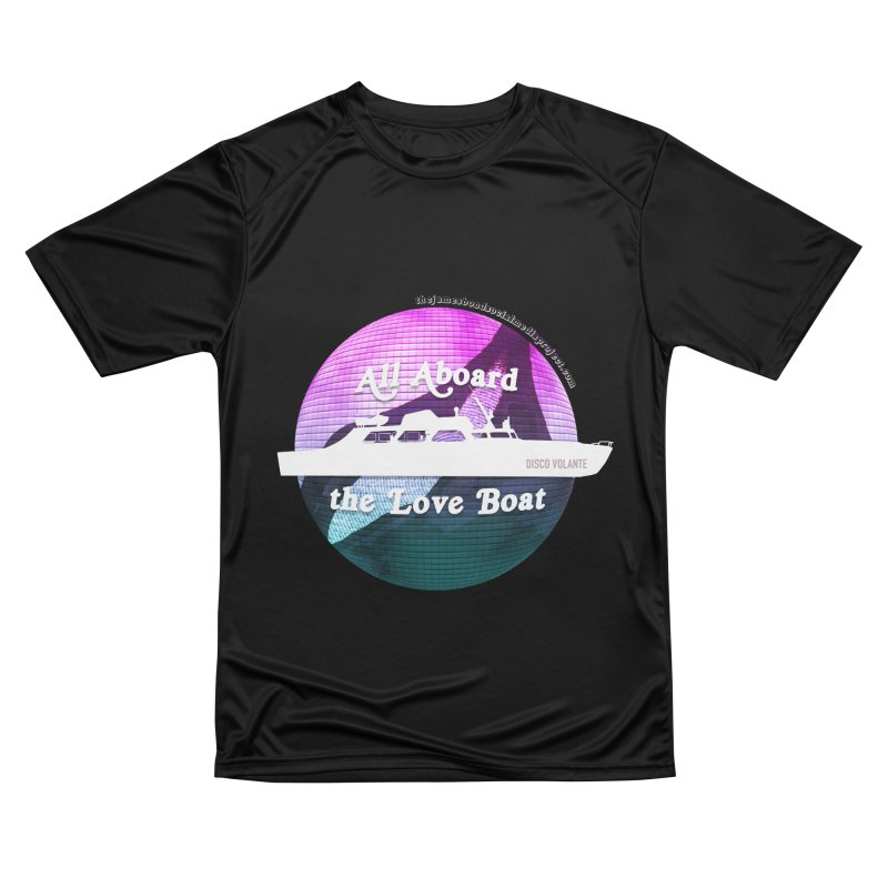 All Aboard the Love Boat - Disco Volante Men's Performance T-Shirt by 007hertzrumble's Artist Shop