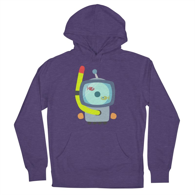 Deep Dive in Men's French Terry Pullover Hoody Heather Purple by B