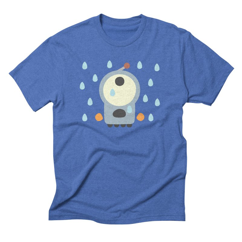 It's raining again… in Men's Triblend T-Shirt Blue Triblend by B