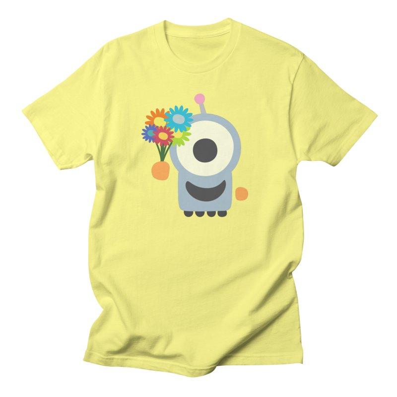 Flowers for you in Men's Regular T-Shirt Lemon by B