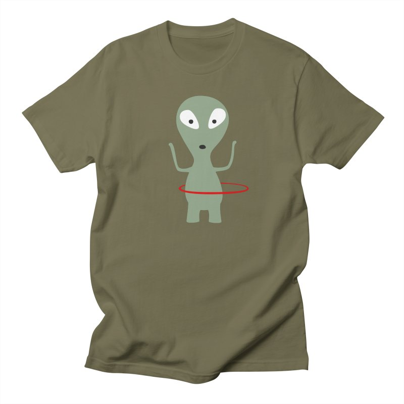 Hula Hoop with Saturn´s Rings in Men's Regular T-Shirt Olive by B