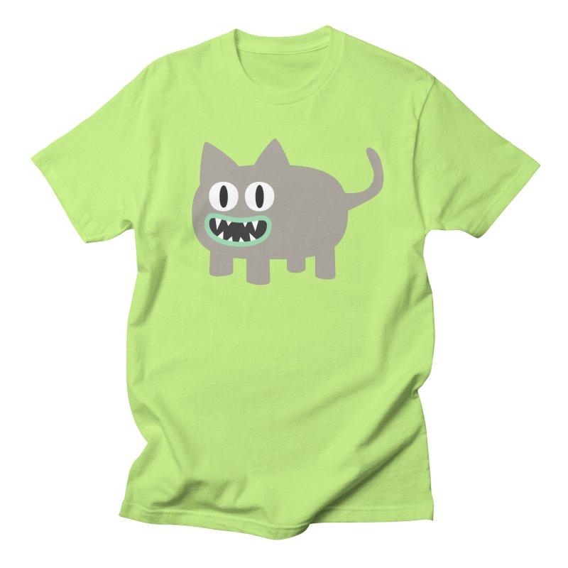 Monster kitten in Men's Regular T-Shirt Neon Green by B