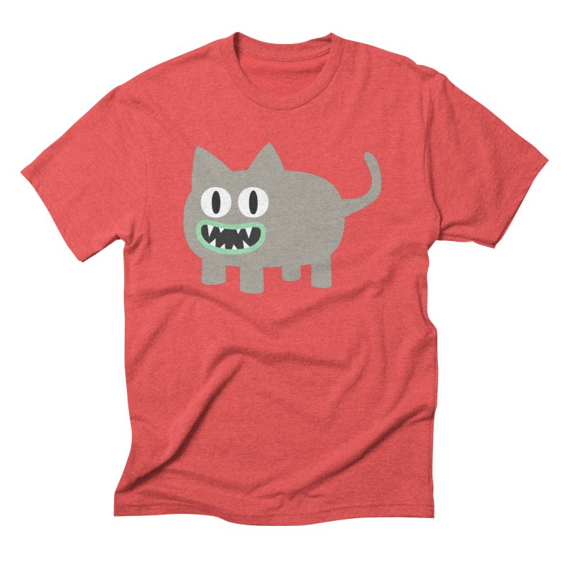 Monster kitten Men's Triblend T-Shirt by B