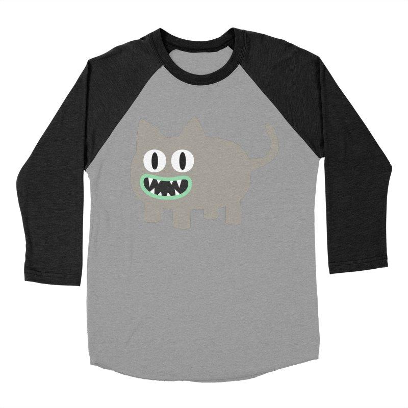 Monster kitten Men's Baseball Triblend Longsleeve T-Shirt by B