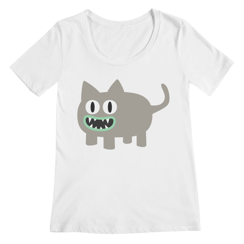 Monster kitten Women's Regular Scoop Neck by B