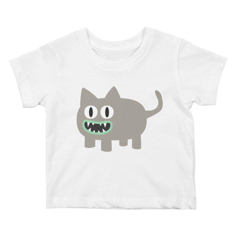 Monster kitten Kids Baby T-Shirt by B