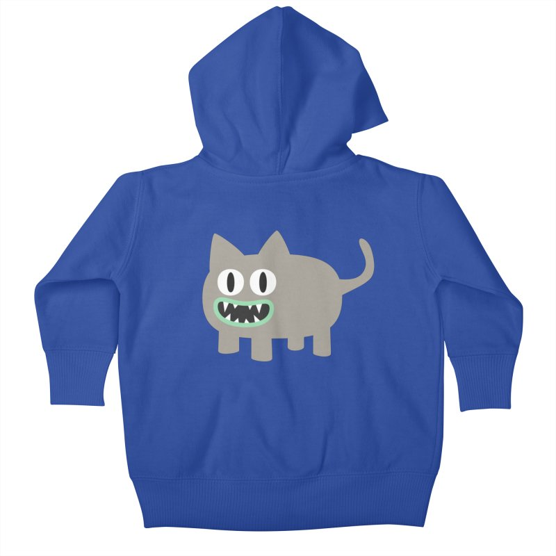 Monster kitten Kids Baby Zip-Up Hoody by B