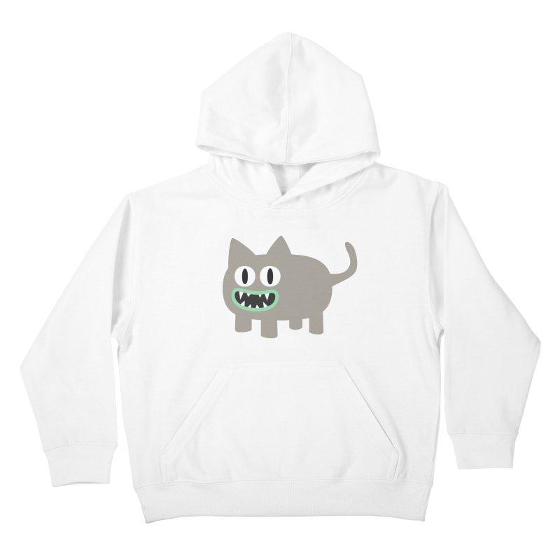 Monster kitten Kids Pullover Hoody by B