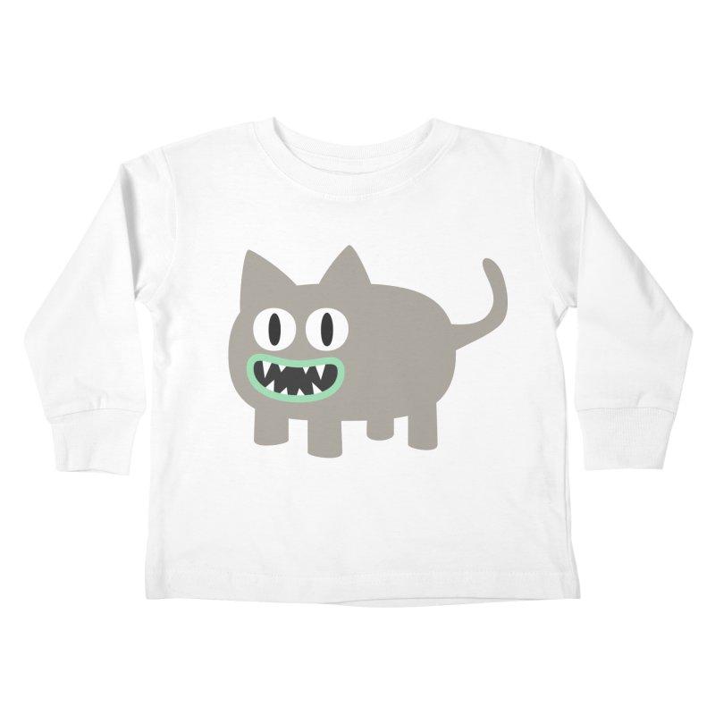 Monster kitten Kids Toddler Longsleeve T-Shirt by B