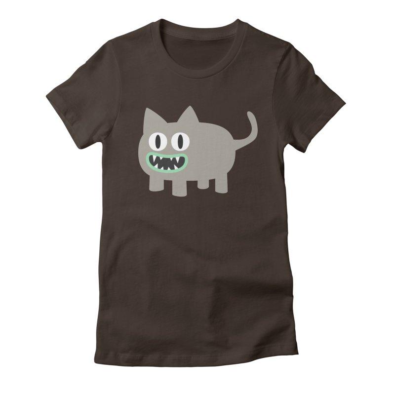 Monster kitten Women's Fitted T-Shirt by B