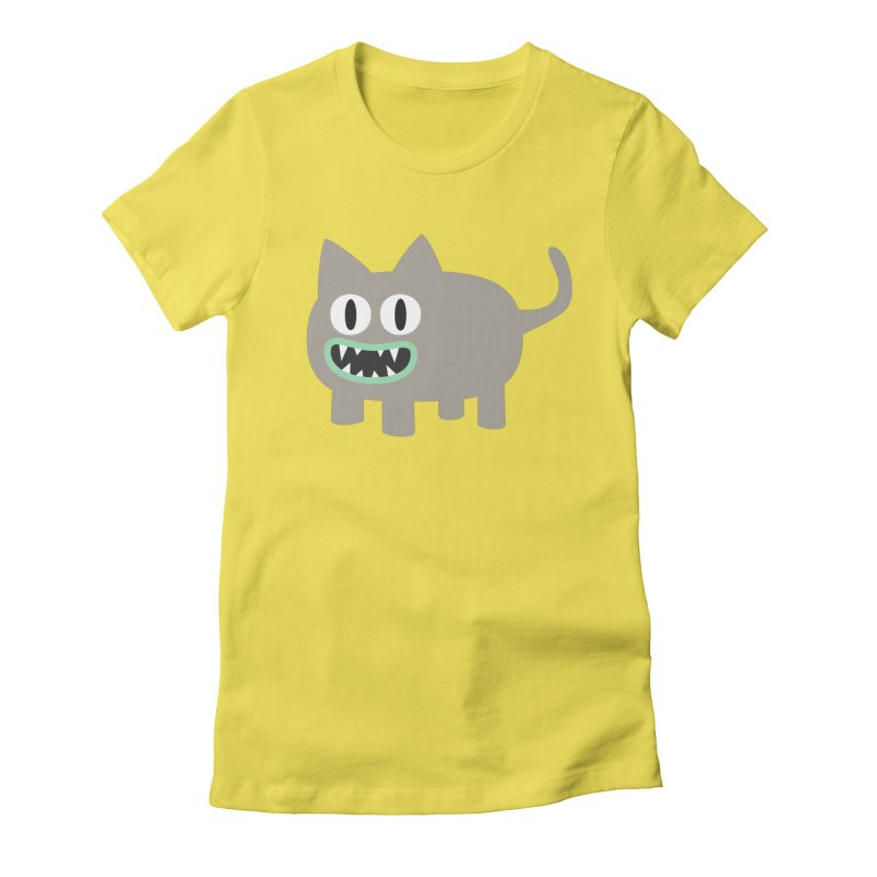 Monster kitten Women's Fitted T-Shirt by B