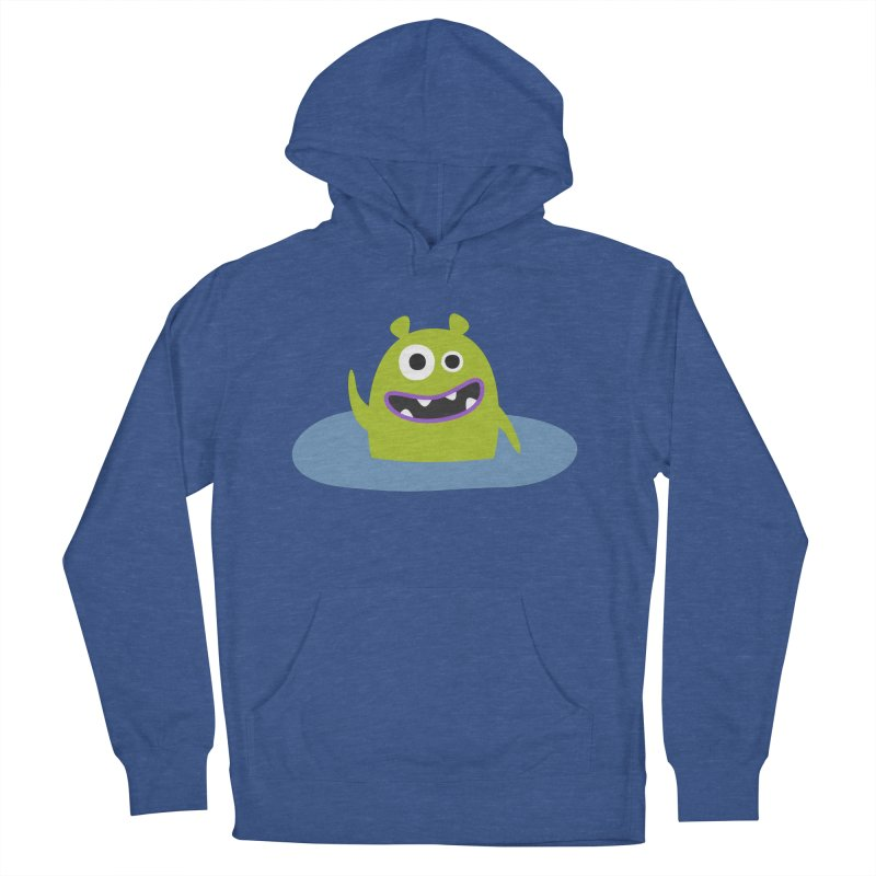 Mr. Green and the pool Men's French Terry Pullover Hoody by B