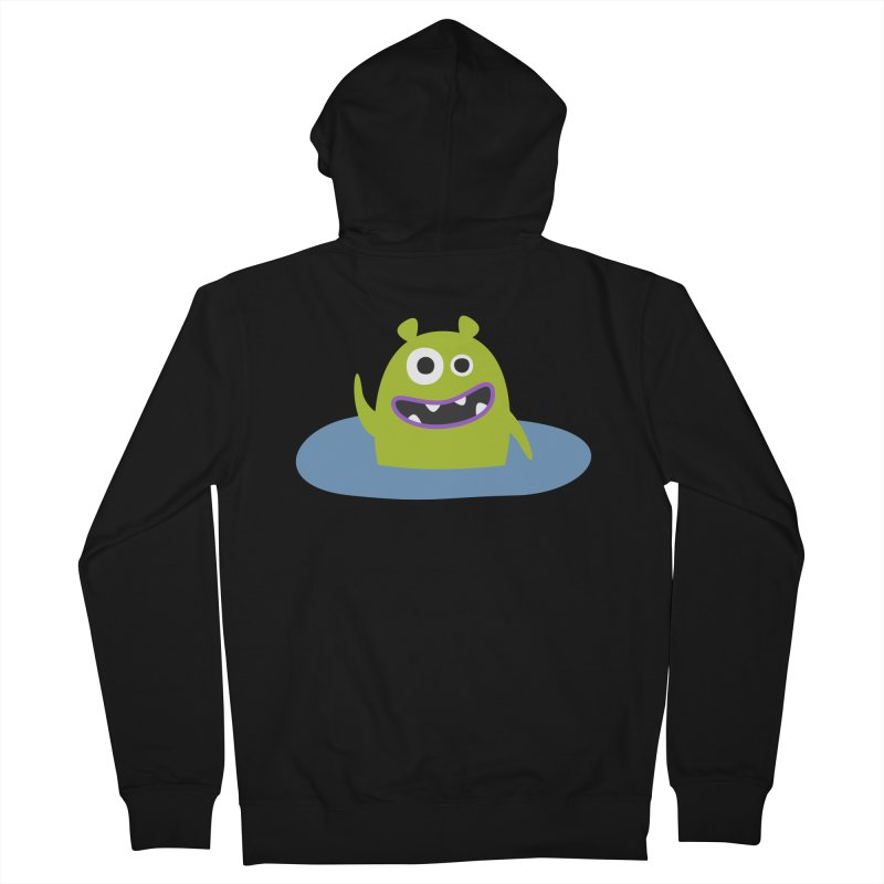 Mr. Green and the pool Men's French Terry Zip-Up Hoody by B