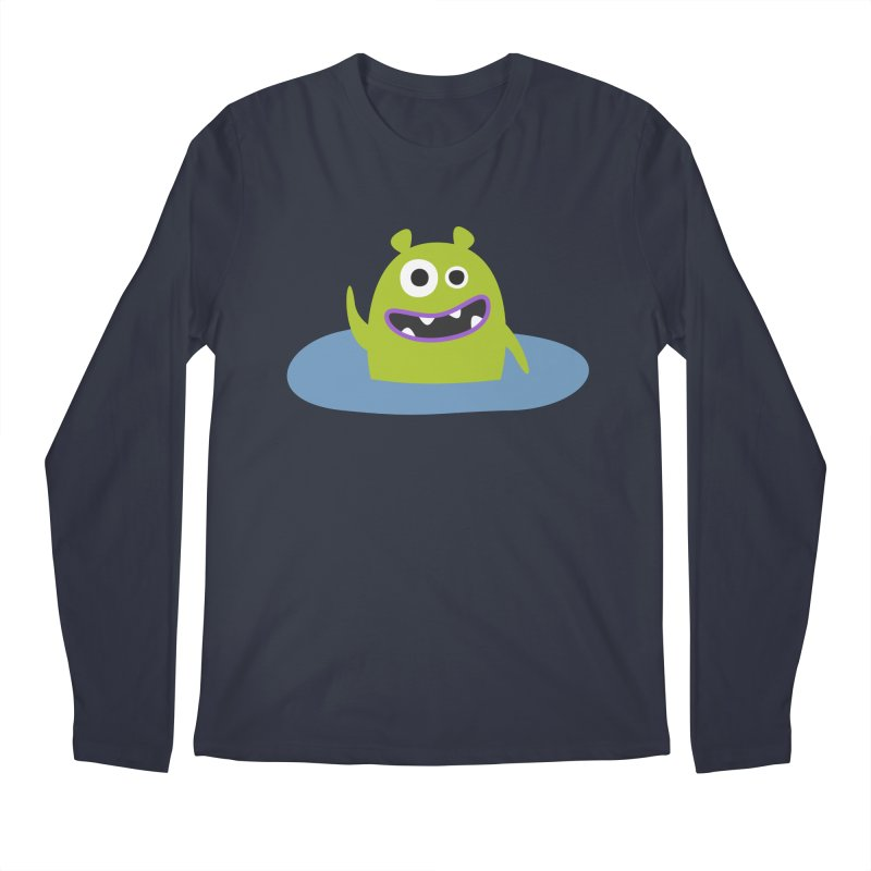 Mr. Green and the pool Men's Regular Longsleeve T-Shirt by B