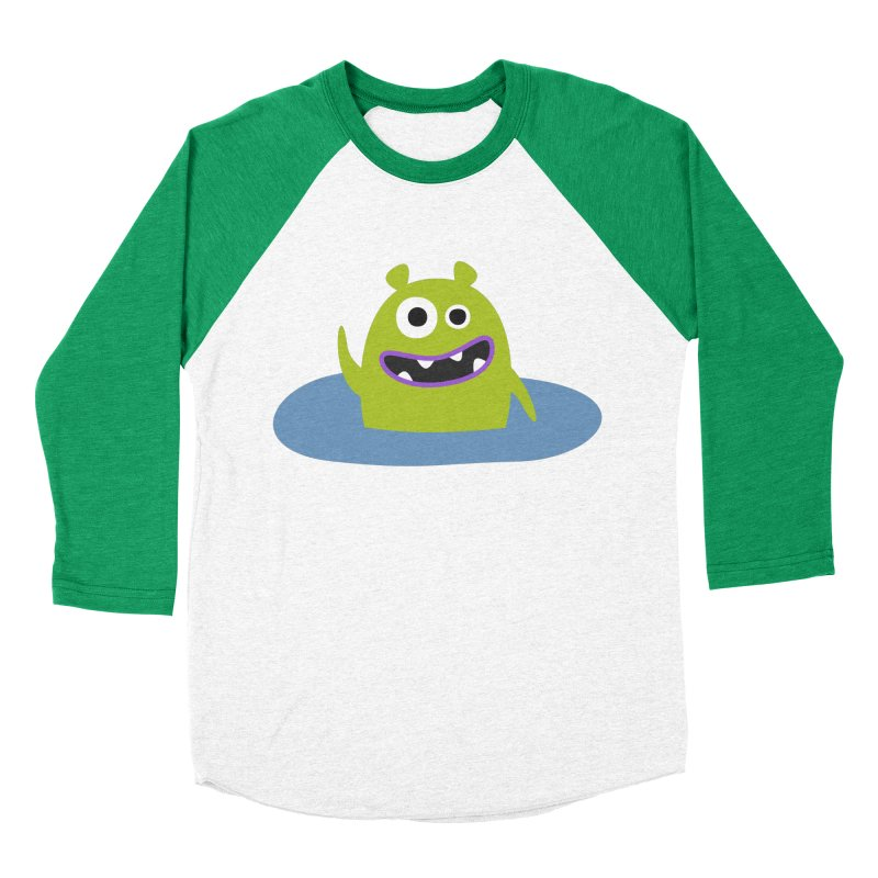 Mr. Green and the pool Men's Baseball Triblend Longsleeve T-Shirt by B