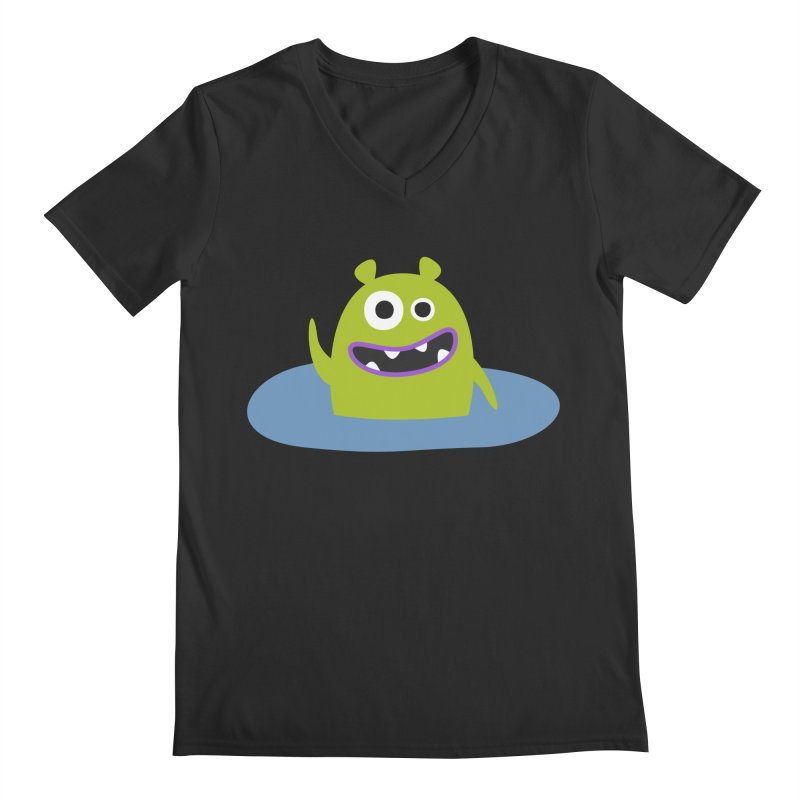 Mr. Green and the pool Men's Regular V-Neck by B
